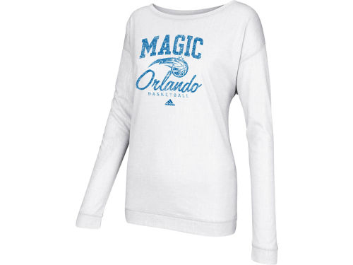 Orlando Magic adidas NBA Womens New Athletic Long Sleeve Slouchy T-Shirt