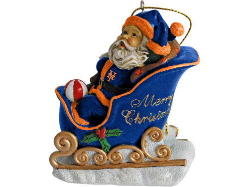 New York Mets Santa Sleigh Ornament