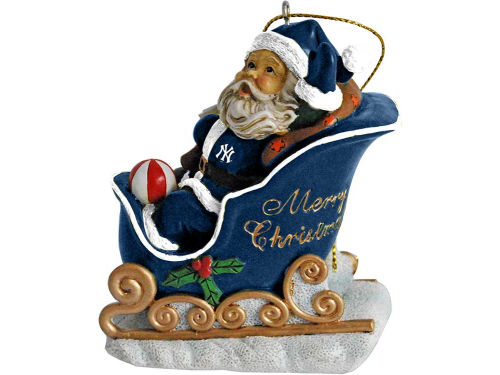 New York Yankees Santa Sleigh Ornament
