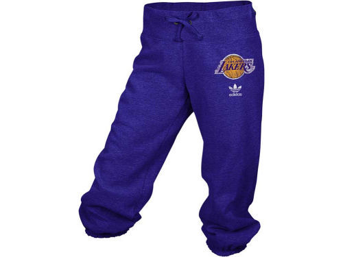 Los Angeles Lakers adidas NBA Womens Big Better Logo Capri
