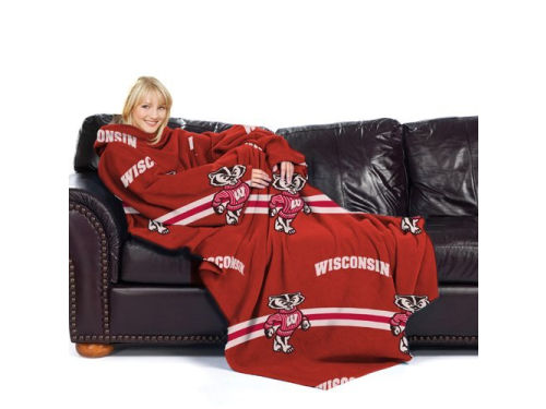Wisconsin Badgers Comfy Throw Blanket