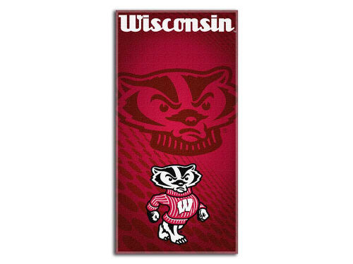 Wisconsin Badgers Northwest Company Emblem Beach Towel-NCAA