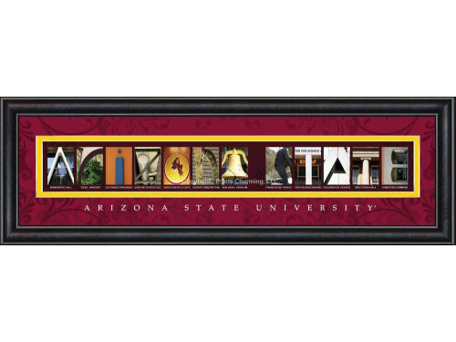 Arizona State Sun Devils Campus Letter Art