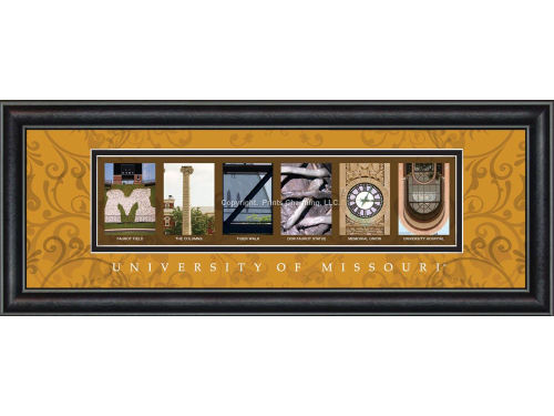 Missouri Tigers Campus Letter Art