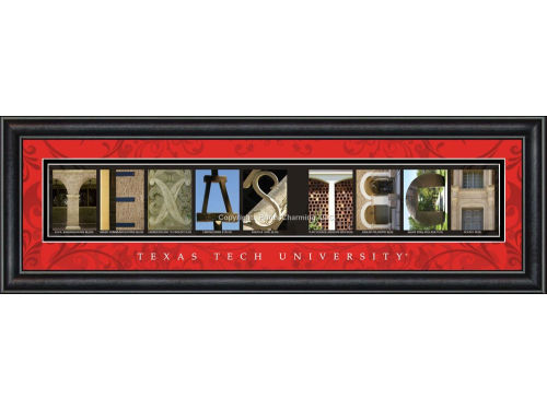 Texas Tech Red Raiders Campus Letter Art