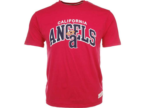 Los Angeles Angels of Anaheim Mitchell and Ness MLB Arch Graphic Tailored T-Shirt