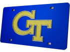 Georgia Tech Yellow Jackets Glitter Laser Tag Auto Accessories