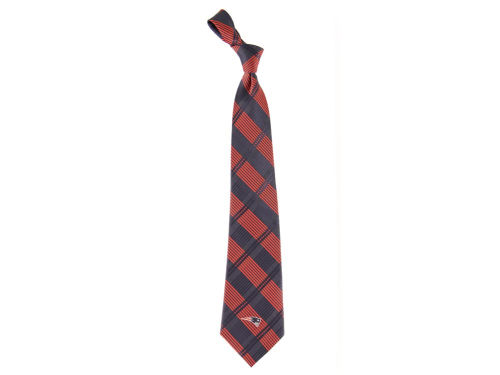 New England Patriots Necktie Woven Poly Plaid