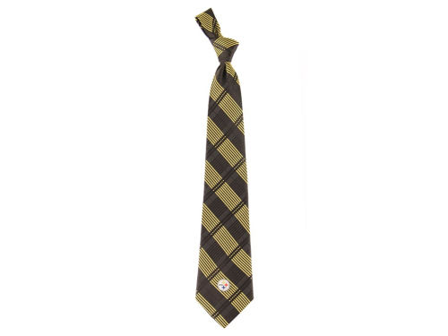 Pittsburgh Steelers Eagles Wings Necktie Woven Poly Plaid