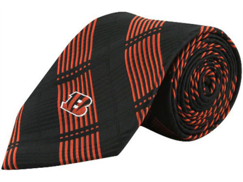 Cincinnati Bengals Eagles Wings Necktie Woven Poly Plaid