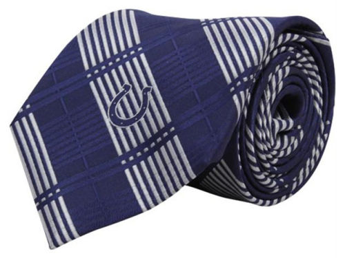 Indianapolis Colts Eagles Wings Necktie Woven Poly Plaid