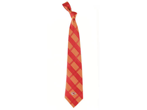 Kansas City Chiefs Eagles Wings Necktie Woven Poly Plaid