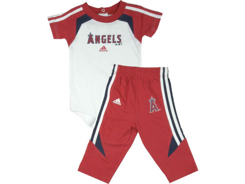 Los Angeles Angels of Anaheim adidas MLB Infant Creeper & Pant Set