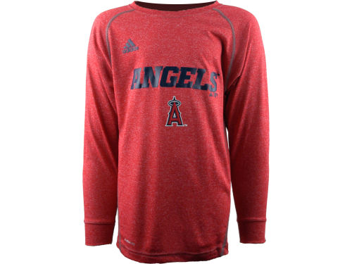 Los Angeles Angels of Anaheim Outerstuff MLB Youth Long Sleeve Heathered Speedwick T-Shirt