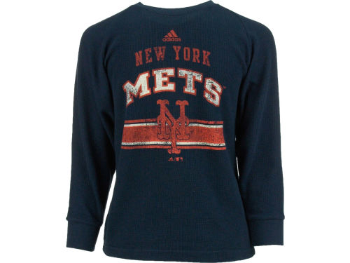 New York Mets adidas MLB Youth Long Sleeve Vintage Thermal T-Shirt