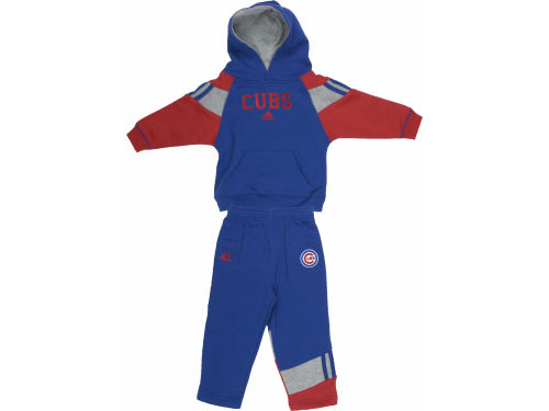 Chicago Cubs Outerstuff MLB Infant Hooded Fleece & Pant Set