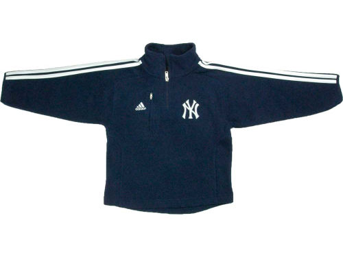 New York Yankees adidas MLB Kids 3 Stripe 1/4 Zip Jacket