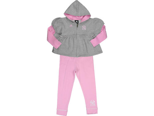 New York Yankees Outerstuff MLB Toddler Full Zip Layered Hoodie & Legging Set