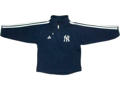 New York Yankees adidas MLB Youth 3 Stripe 1/4 Zip Jacket