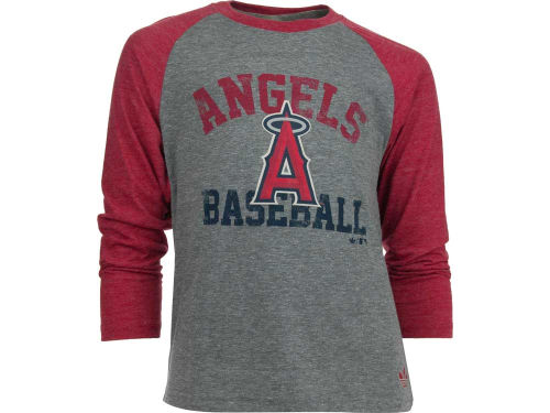 Los Angeles Angels of Anaheim adidas MLB Youth Validictorian Triblend Raglan