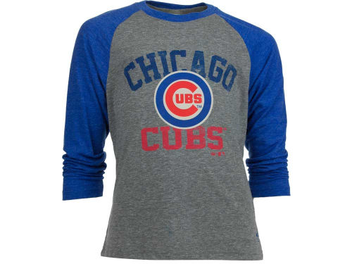 Chicago Cubs adidas MLB Youth Validictorian Triblend Raglan
