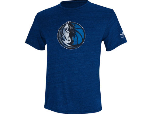 Dallas Mavericks adidas NBA Bigger Better Logo Triblend T-Shirt