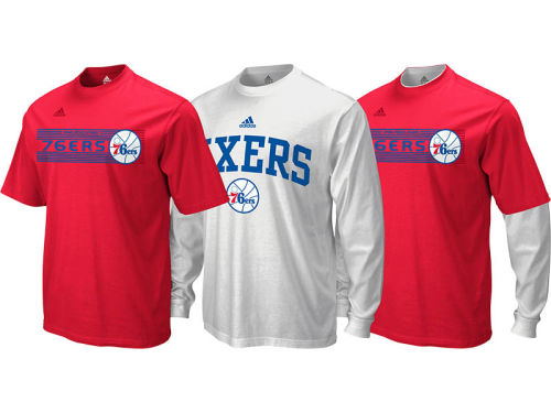 Philadelphia 76ers adidas NBA Showtime 3-In-1 T-Shirt