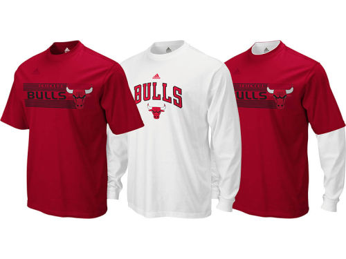 Chicago Bulls adidas NBA Showtime 3-In-1 T-Shirt