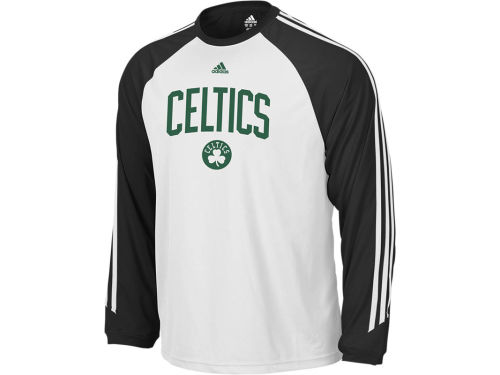 Boston Celtics adidas NBA Team Arch 3-Stripe Long Sleeve T-Shirt