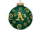 Oakland Athletics Team Color Swirl Ornament 3