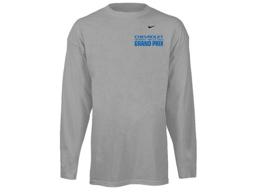 Chevrolet Detroit Belle Isle Grand Prix Racing Event Mens Nike Long Sleeve Logo T-Shirt