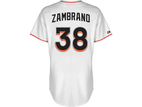 Miami Marlins Carlos Zambrano Majestic MLB Player Replica Jersey
