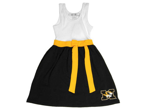 Missouri Tigers NCAA Toddler Babydoll Bowtie Dress