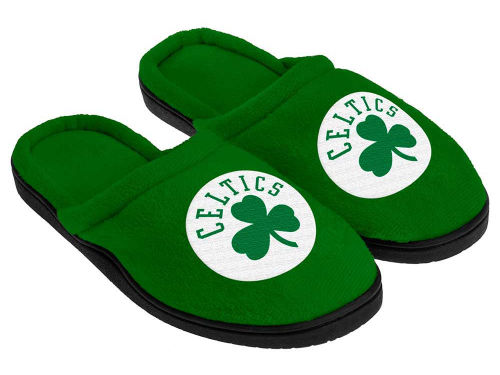 Boston Celtics Forever Collectibles Cupped Sole Slippers