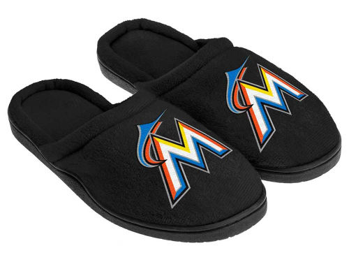 Miami Marlins Cupped Sole Slippers