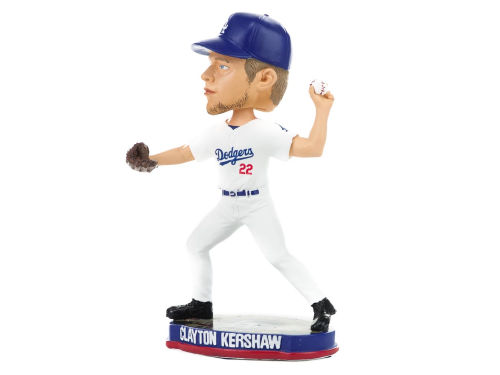 Los Angeles Dodgers Clayton Kershaw Plate Base Bobble