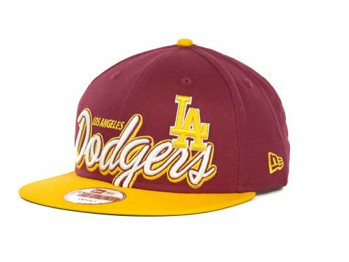 Los Angeles Dodgers New Era MLB Double Script Snapback 9FIFTY Cap Hats