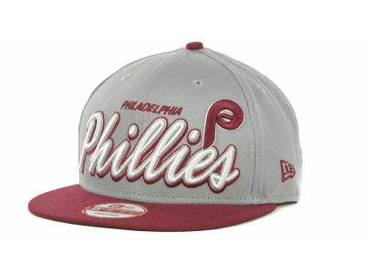 Philadelphia Phillies MLB Double Script Snapback 9FIFTY Cap Hats