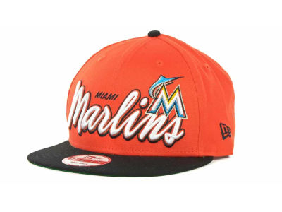 Miami Marlins MLB Double Script Snapback 9FIFTY Cap Hats