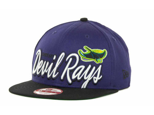 Tampa Bay Rays New Era MLB Double Script Snapback 9FIFTY Cap Hats