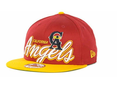 Los Angeles Angels of Anaheim MLB Double Script Snapback 9FIFTY Cap Hats