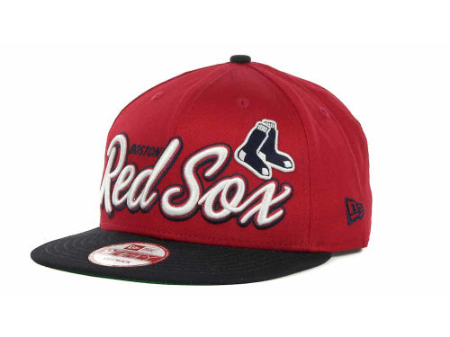 Boston Red Sox New Era MLB Double Script Snapback 9FIFTY Cap Hats