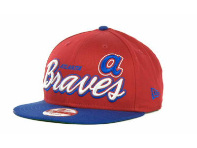 Atlanta Braves MLB Double Script Snapback 9FIFTY Cap Hats