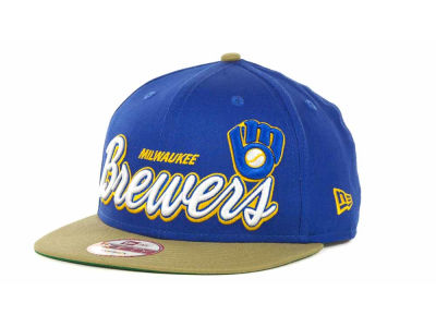 Milwaukee Brewers MLB Double Script Snapback 9FIFTY Cap Hats