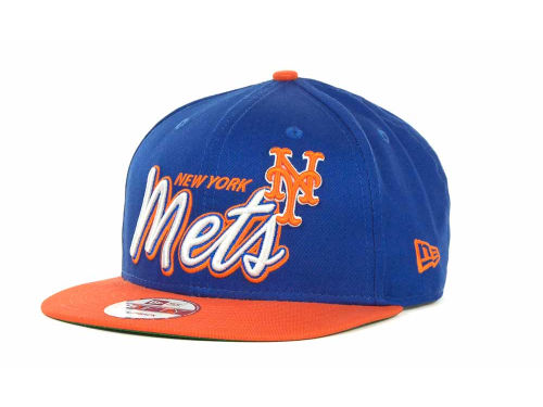 New York Mets New Era MLB Double Script Snapback 9FIFTY Cap Hats