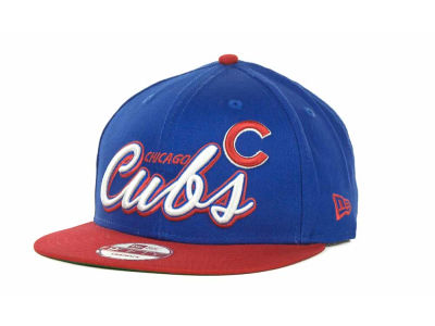 Chicago Cubs MLB Double Script Snapback 9FIFTY Cap Hats