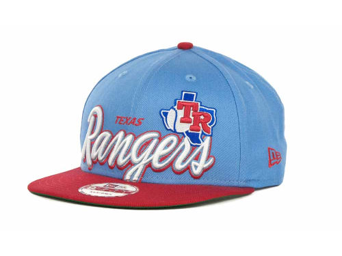 Texas Rangers New Era MLB Double Script Snapback 9FIFTY Cap Hats