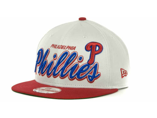 Philadelphia Phillies New Era MLB Double Script Snapback 9FIFTY Cap Hats