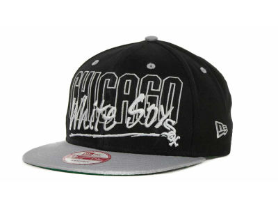 Chicago White Sox MLB Snap Block Snapback 9FIFTY Cap Hats