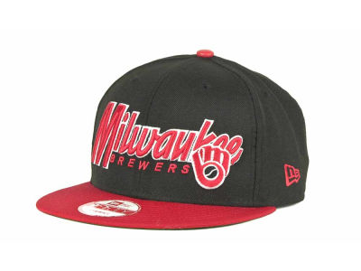 Milwaukee Brewers MLB Pull It Back 9FIFTY Strapback Cap Hats